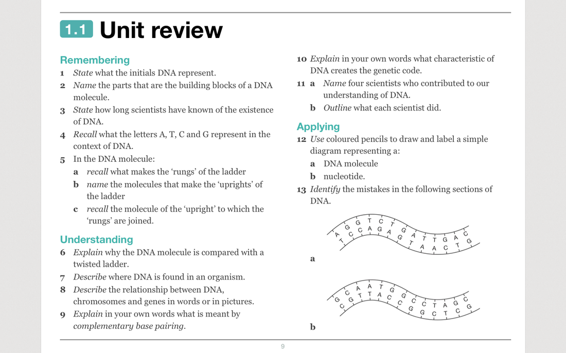 Topic 1 Dna Structure Scsc Year 10 Science